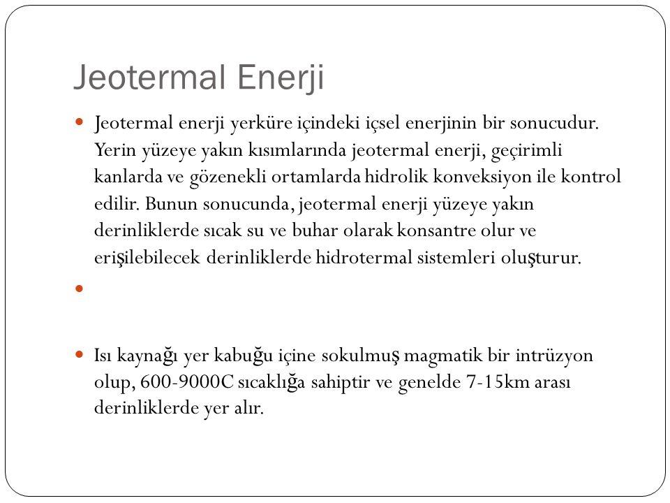 Jeotermal Enerji Jeotermal enerji yerküre içindeki içsel enerjinin bir sonucudur.