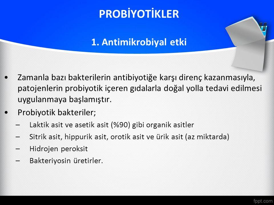 PROBİYOTİKLER 1.