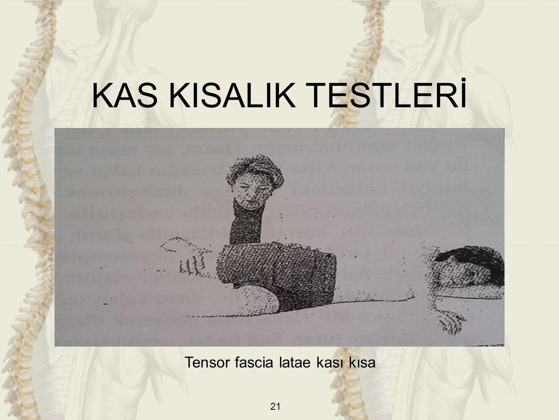 21 Tensor fascia latae kası kısa KAS KISALIK TESTLERİ