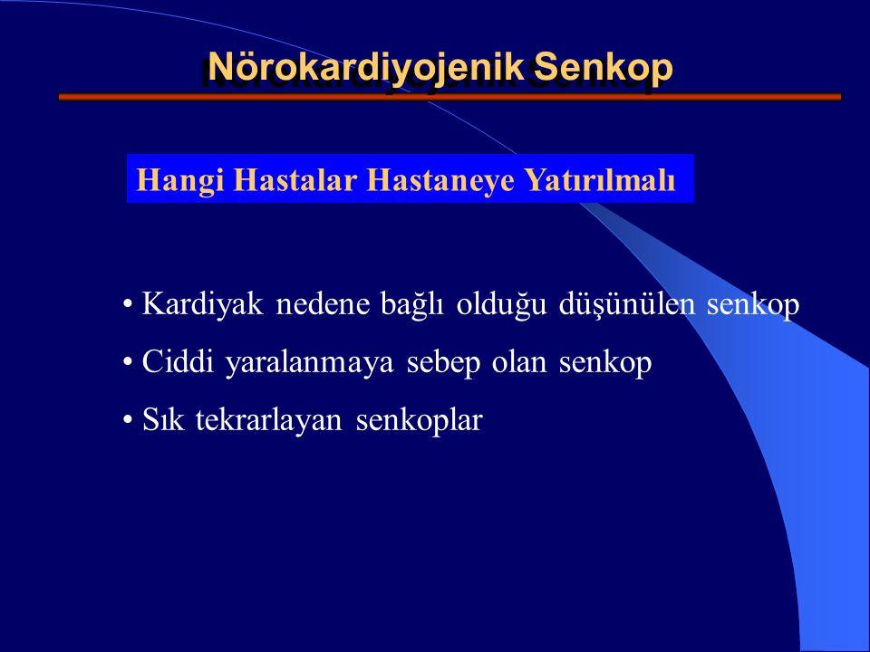 Diyagnostik Testler Karotid Sinus Masajı Tilt Testi Holter monitorörizasyonu Ekokardiyografi Egzersiz Testi External or Internal Loop Recorders Electro-Fizyolojik Çalışma (EPS) Kalp Katheterizasyonu and Anjiografi Nörolojik ve Psikiyatrik Değerlendirme Nörokardiyojenik Senkop