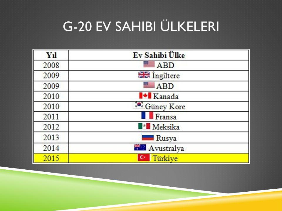 G-20 EV SAHIBI ÜLKELERI