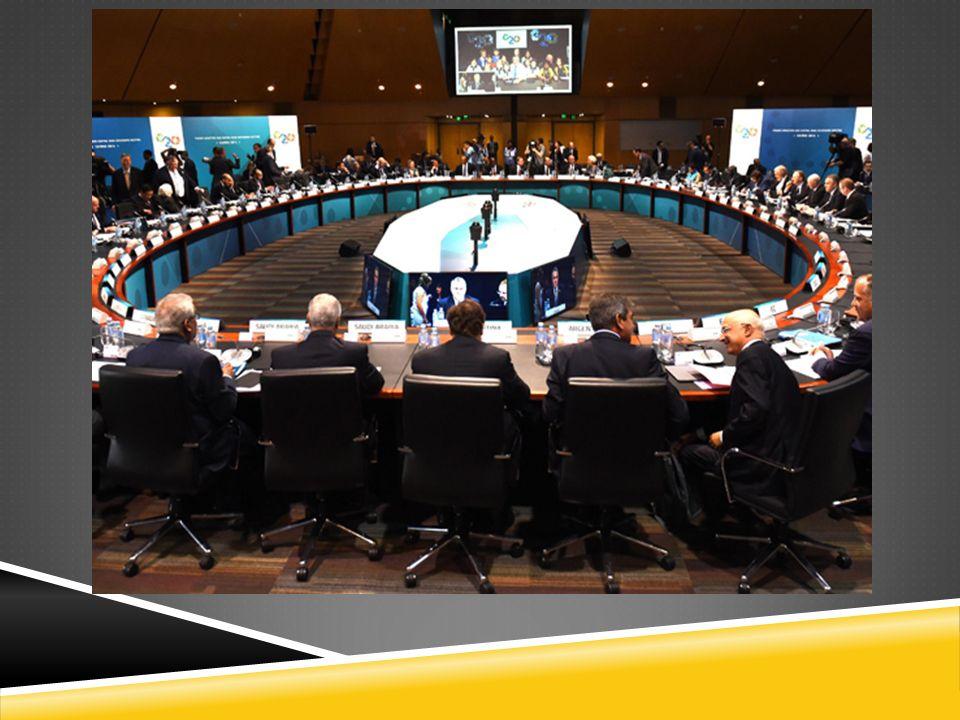 AMACI  Küresel ekonomik istikrar ve sürdürülebilir büyüme için üyeler arasında politika koordinasyonunu sa ğ lamak,  Riskleri azaltacak ve gelecek finansal krizleri önleyecek finansal düzenlemeleri desteklemek,  uluslararası finansal yapıyı yenilemektir.