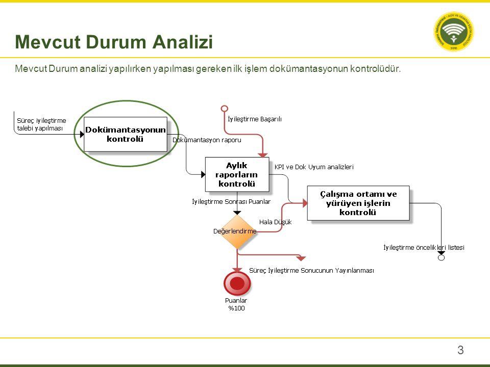 Dokümantasyonun kontrolü, süreçlerle ilgili makro sistem teorisinin kontrolü ile başlar.