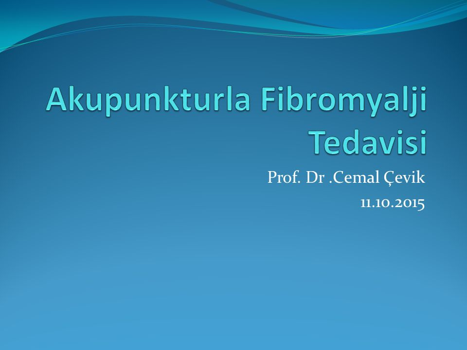 Prof. Dr.Cemal Çevik 11.10.2015