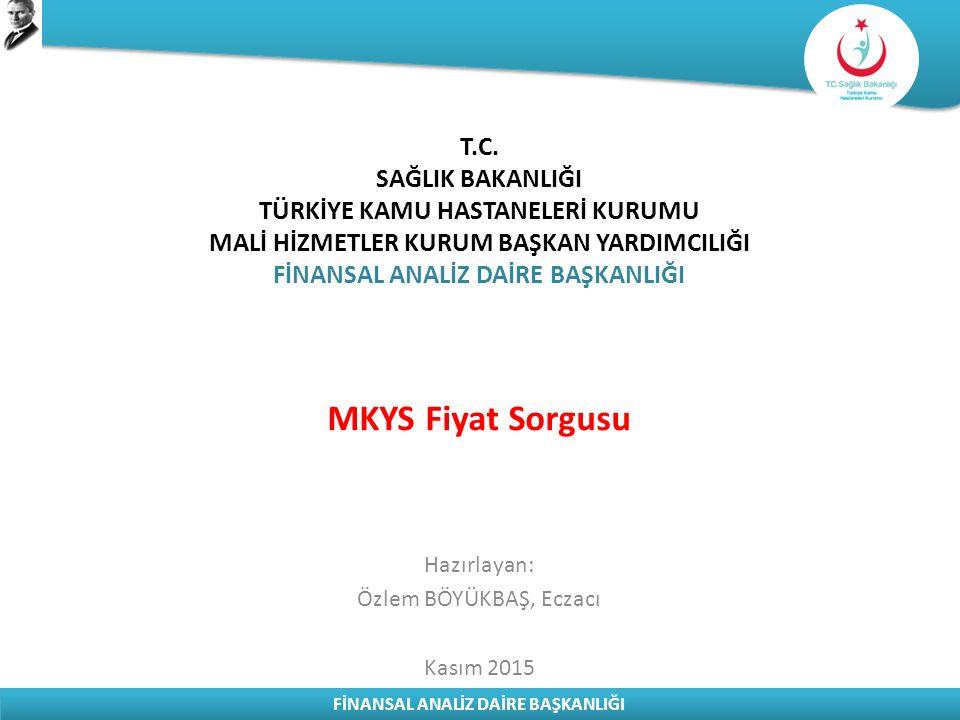 FİNANSAL ANALİZ DAİRE BAŞKANLIĞI 10637320050018 TİTUBB Sorgu