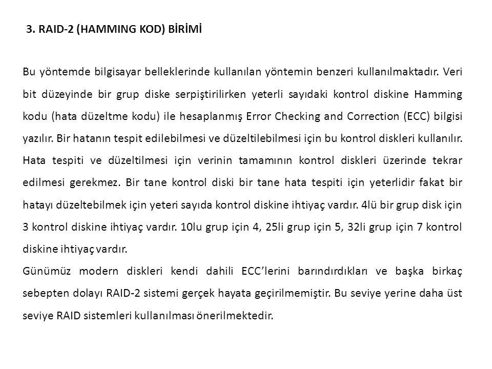 3. RAID-2 (HAMMING KOD) BİRİMİ