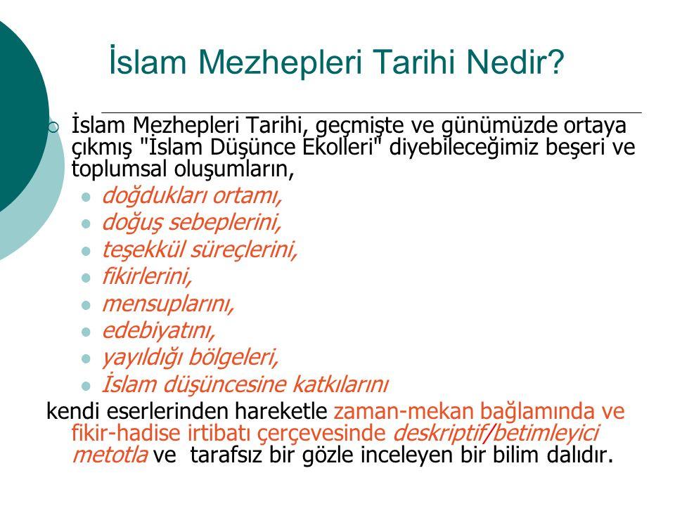 İslam Mezhepleri Tarihi Nedir?  İslam Mezhepleri Tarihi, geçmişte ve günümüzde ortaya çıkmış