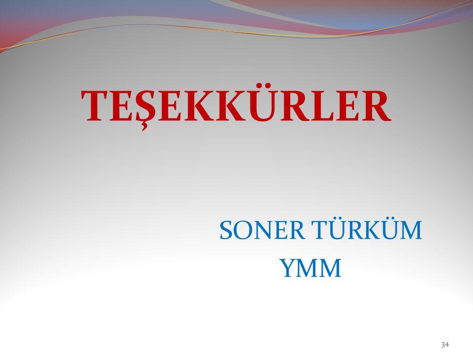 TEŞEKKÜRLER SONER TÜRKÜM YMM 34