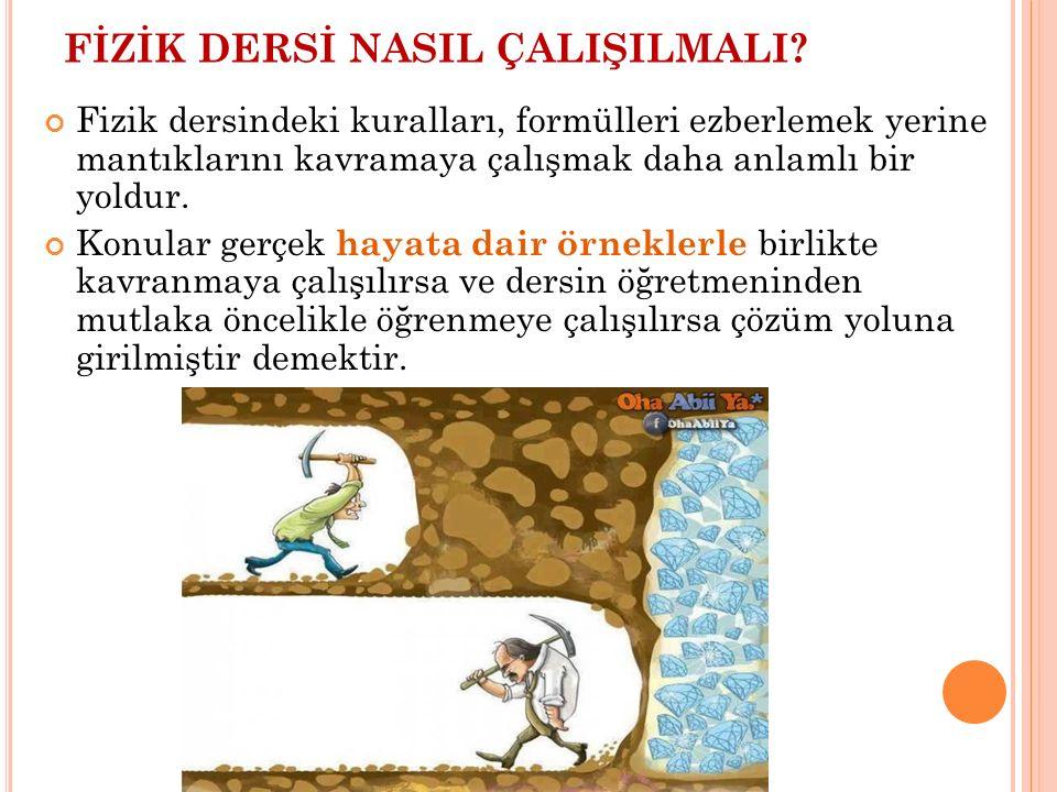 FİZİK DERSİ NASIL ÇALIŞILMALI.