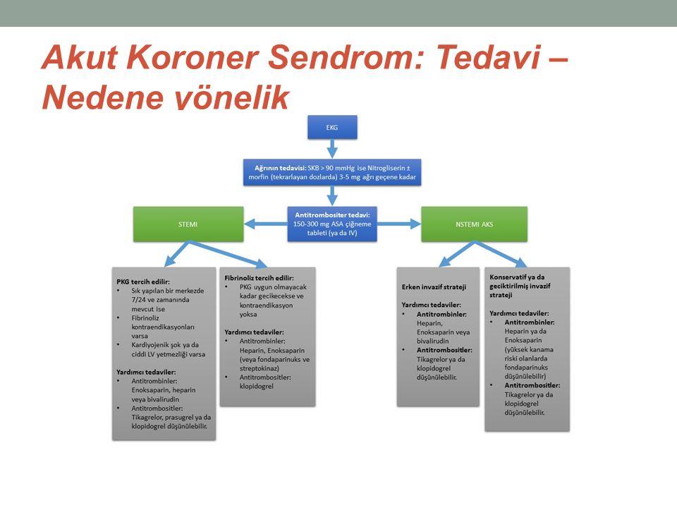 Akut Koroner Sendrom: Tedavi – Nedene yönelik