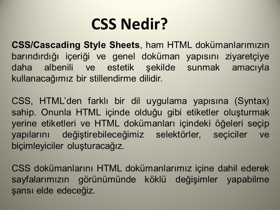 CSS Nedir.