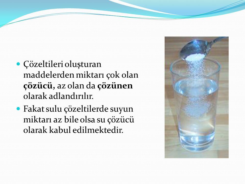 Çözeltiler fiziksel hâllerine bağlı olarak katı, sıvı veya gaz hâlde bulunur.