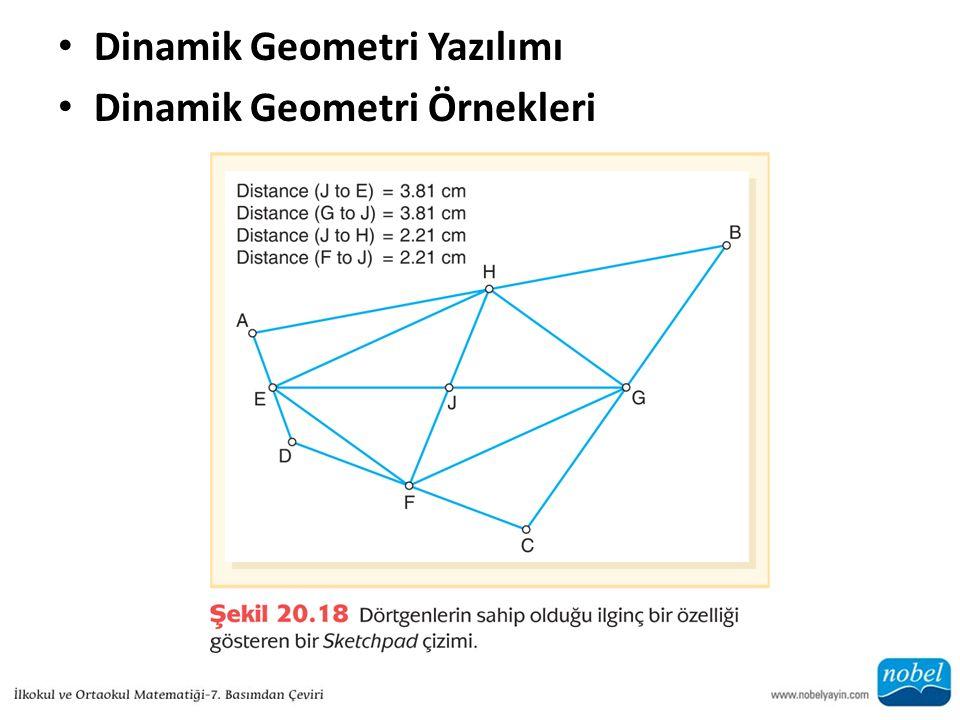 Dinamik Geometri Yazılımı Dinamik Geometri Örnekleri