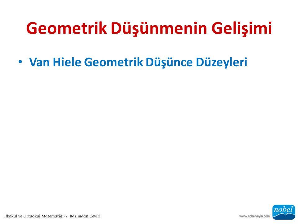 Geometrik Düşünmenin Gelişimi Van Hiele Geometrik Düşünce Düzeyleri