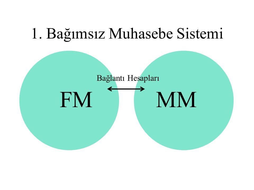 MMFM 1. Bağımsız Muhasebe Sistemi Bağlantı Hesapları