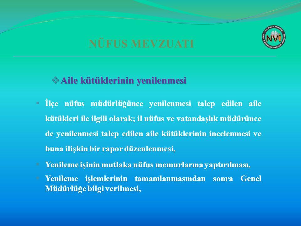 NÜFUS KAYIT SİSTEMİ  Kapalı kayıtlara nüfus olaylarının işlenmemesi  Türk vatandaşlığını kaybı nedeniyle kapalı olan kayda, kayıptan önce meydana gelen nüfus olayları ilçe nüfus müdürlüklerince işlenmeyecek, olay form ve tutanaklar Genel Müdürlüğe gönderilecek,  27.07.2015 tarihli ve 67844 sayılı talimat.