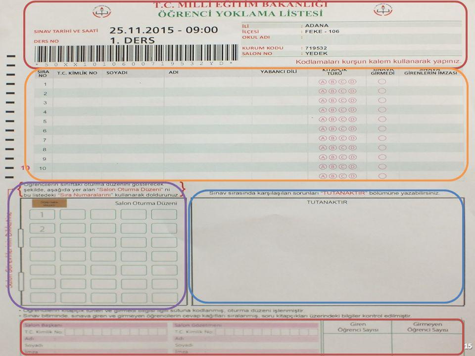 16 12345678901AKÇAPINARCÜNEYTİNGİLİZCE CÜNEYT 12345678803ELİBOLADİLİNGİLİZCE 3 GİRMEDİ 22345678803BEKTAŞAHMETİNGİLİZCE CÜNEYT 22345678803 T.C Kimlik numaralı Ahmet BEKTAŞ geçerli bir kimlik belgesi ibraz edemediğinden sınava girmemiştir.