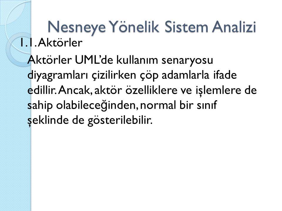 Nesneye Yönelik Sistem Analizi 1.1.