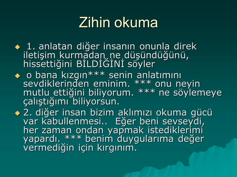 Zihin okuma  1.