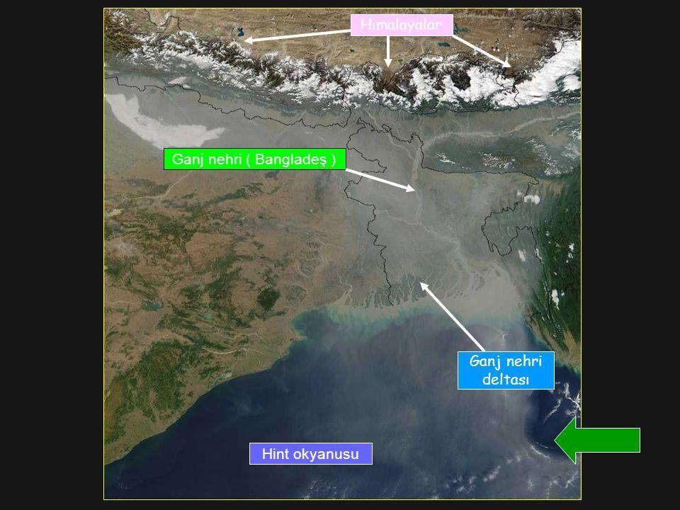 Himalayalar Hint okyanusu Ganj nehri ( Bangladeş ) Ganj nehri deltası