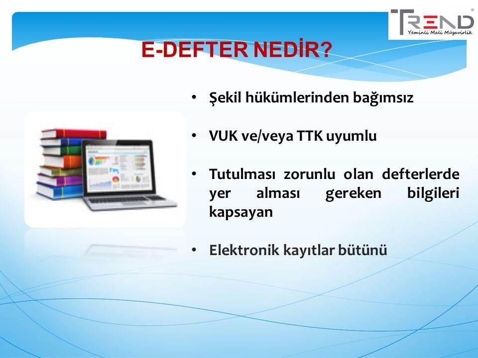 3 Tebliğde belirlenen süre ve formatta e- Defter aylık olarak hazırlanır.
