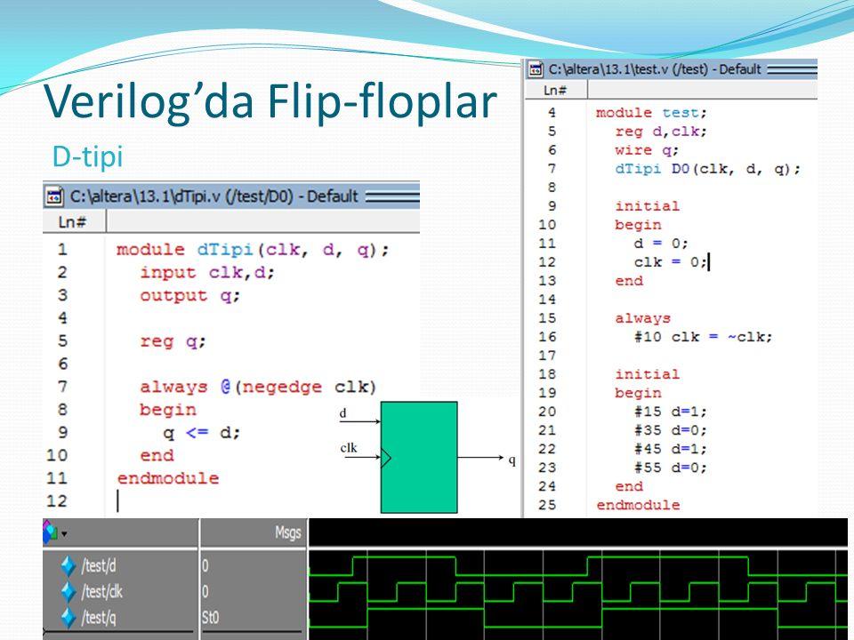 Verilog'da Flip-floplar 11 D-tipi