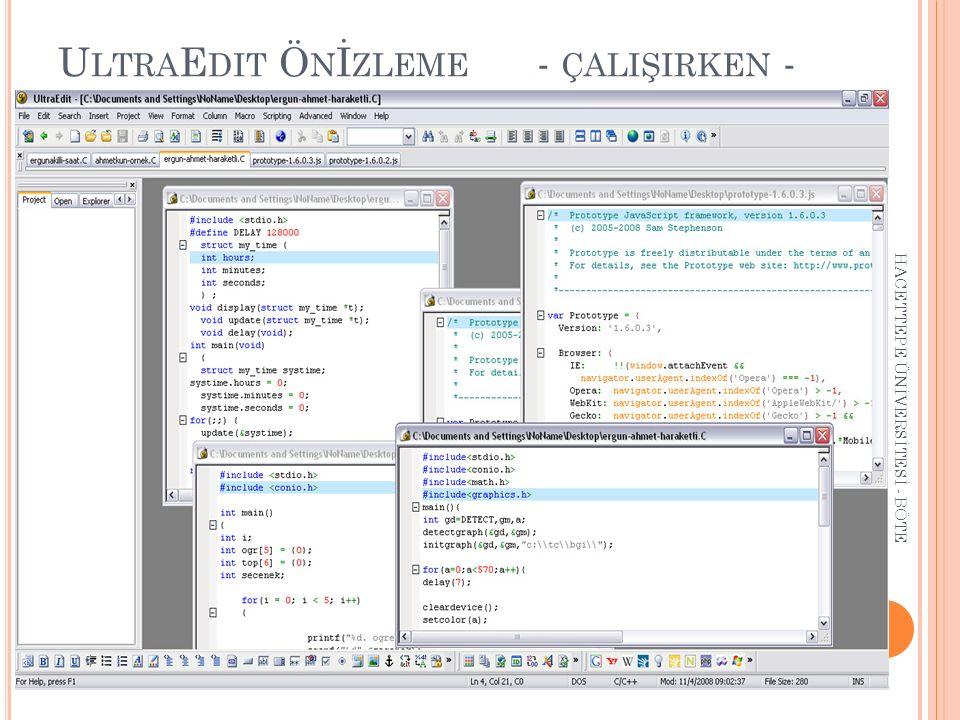 Dahili JavaScript Desteği 'i diğer editörlerden ayıran en önemli özelliklerden biri dahili JavaScript desteğidir.