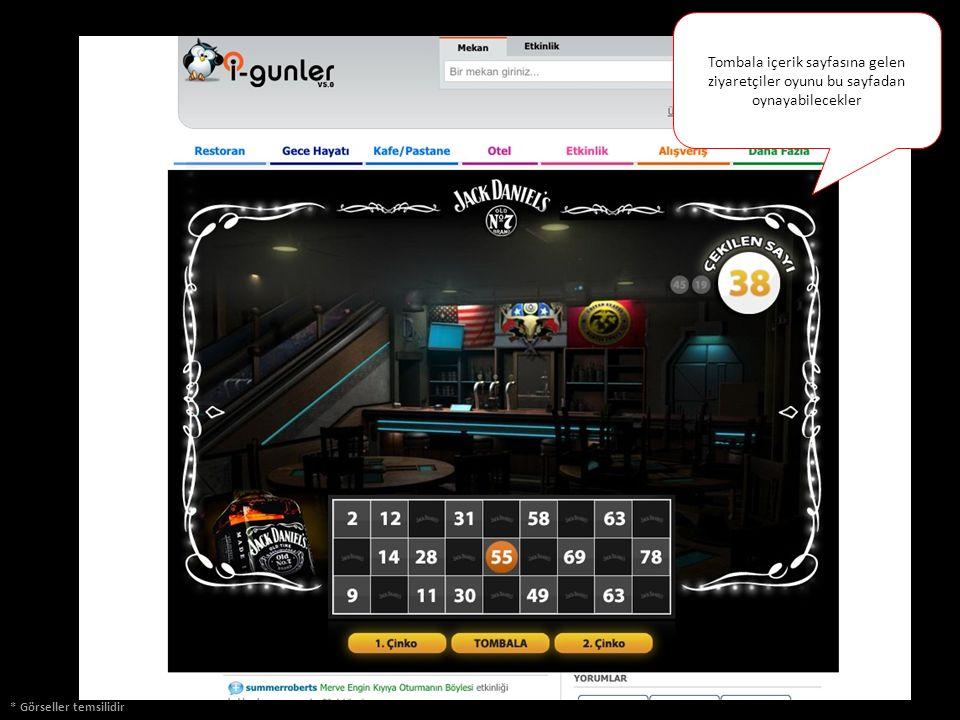 * Görseller temsilidir Tombala içerik sayfasına gelen ziyaretçiler oyunu bu sayfadan oynayabilecekler