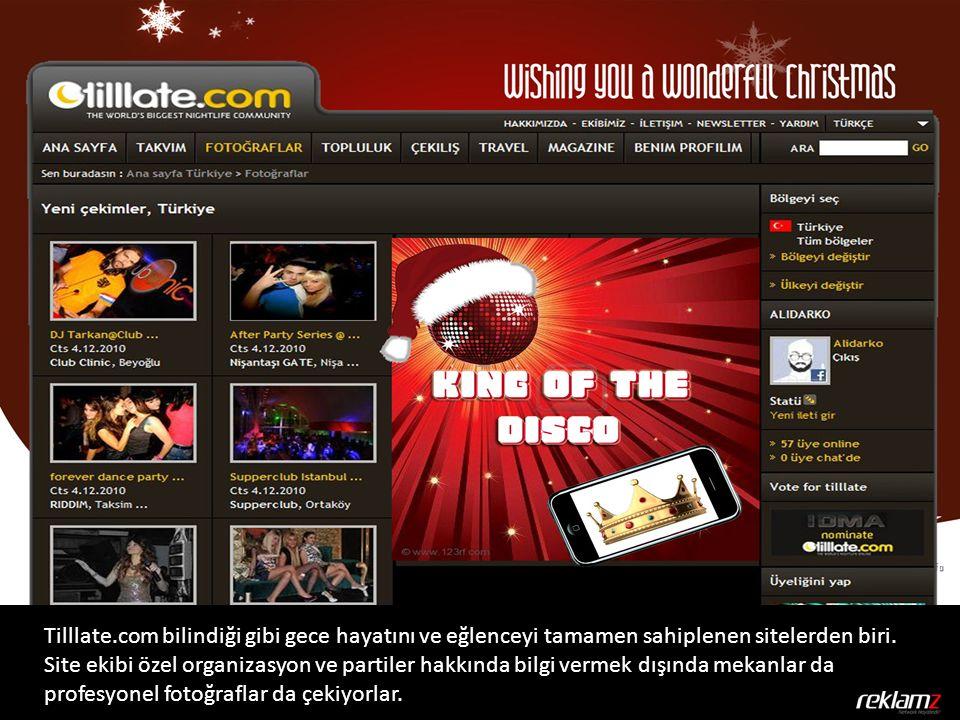 Tilllate.com bilindiği gibi gece hayatını ve eğlenceyi tamamen sahiplenen sitelerden biri. Site ekibi özel organizasyon ve partiler hakkında bilgi ver