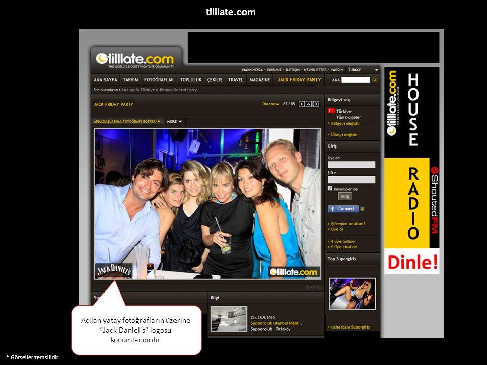 """* Görseller temsilidir. Açılan yatay fotoğrafların üzerine """"Jack Daniel's"""" logosu konumlandırılır tilllate.com"""
