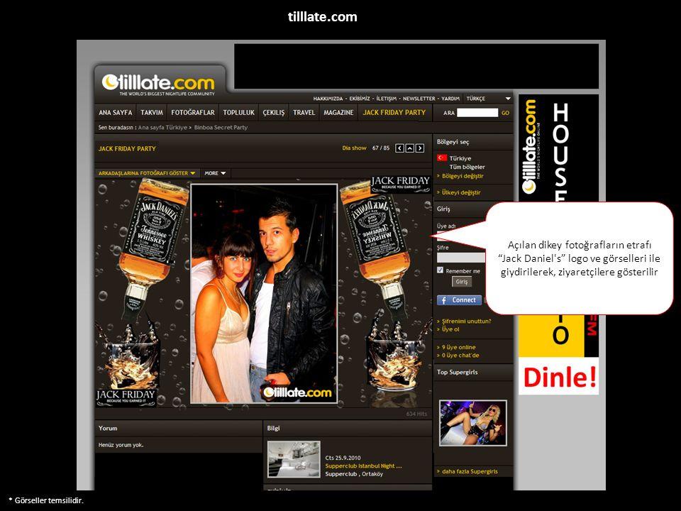"""* Görseller temsilidir. Açılan dikey fotoğrafların etrafı """"Jack Daniel's"""" logo ve görselleri ile giydirilerek, ziyaretçilere gösterilir tilllate.com"""