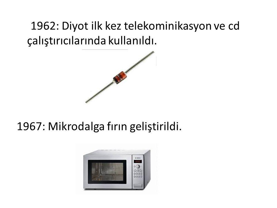 1962: Diyot ilk kez telekominikasyon ve cd çalıştırıcılarında kullanıldı. 1967: Mikrodalga fırın geliştirildi.