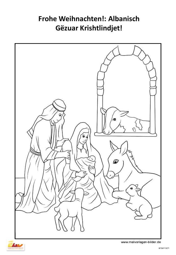 Lindja e Jezusit Luka 1+2 albanisch