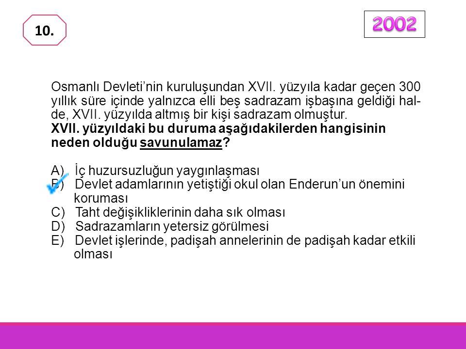 Osmanlı Devleti XVII. yüzyılda birçok alanda duraklama ve ge- rileme dönemine girmiştir. Bu dönemde görülen duraklama ve gerileme belirtileri aşağıdak