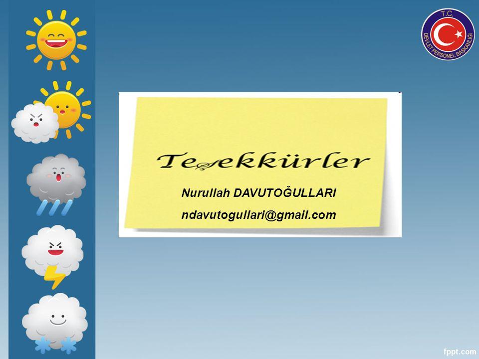 Nurullah DAVUTOĞULLARI ndavutogullari@gmail.com