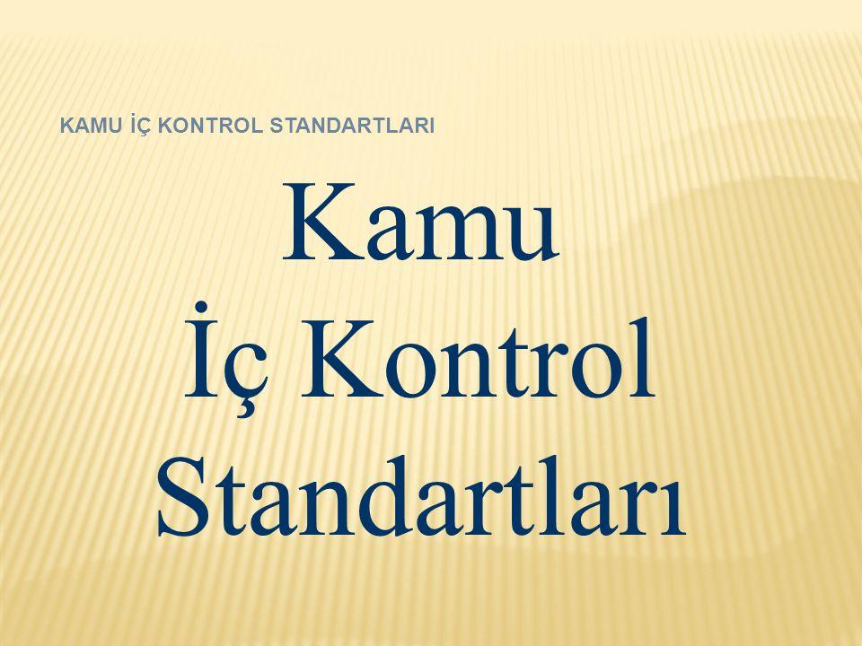 KAMU İÇ KONTROL STANDARTLARI Kamu İç Kontrol Standartları
