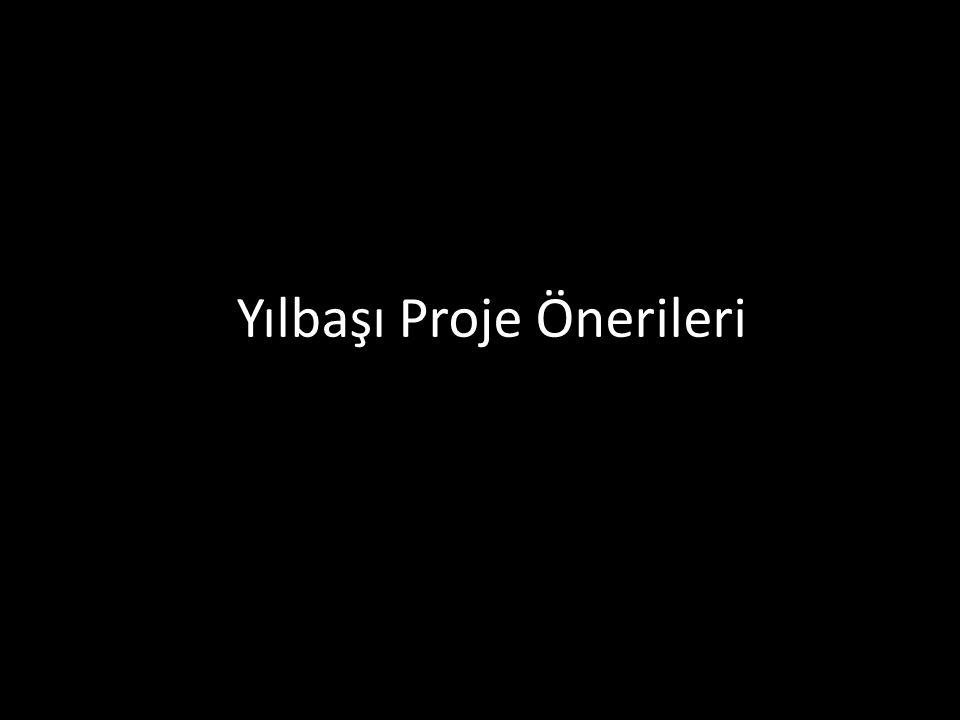 Yılbaşı Proje Önerileri