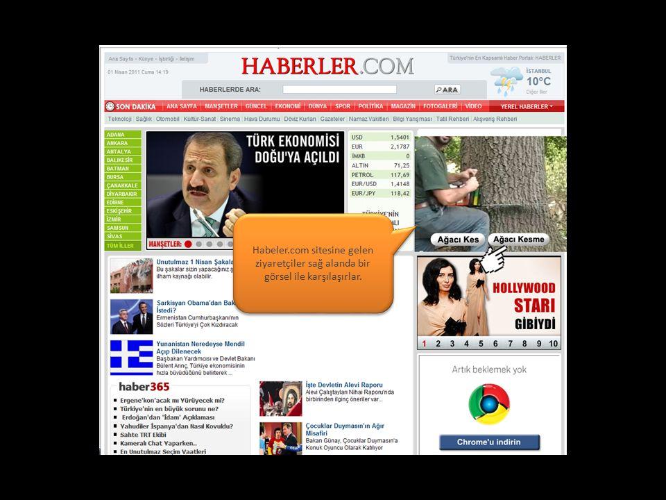 Habeler.com sitesine gelen ziyaretçiler sağ alanda bir görsel ile karşılaşırlar.