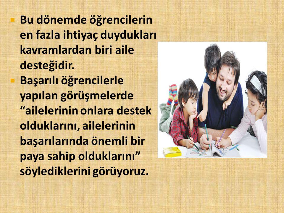  Aileler, çocuklarının zekâlarını sınavla ölçme yanlışlığına düşmemelidir.