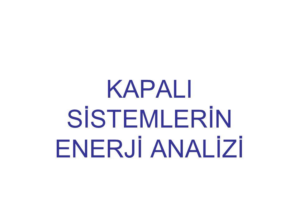 KAPALI SİSTEMLERİN ENERJİ ANALİZİ