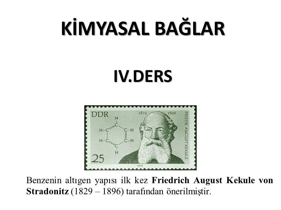 Benzenin altıgen yapısı ilk kez Friedrich August Kekule von Stradonitz (1829 – 1896) tarafından önerilmiştir.