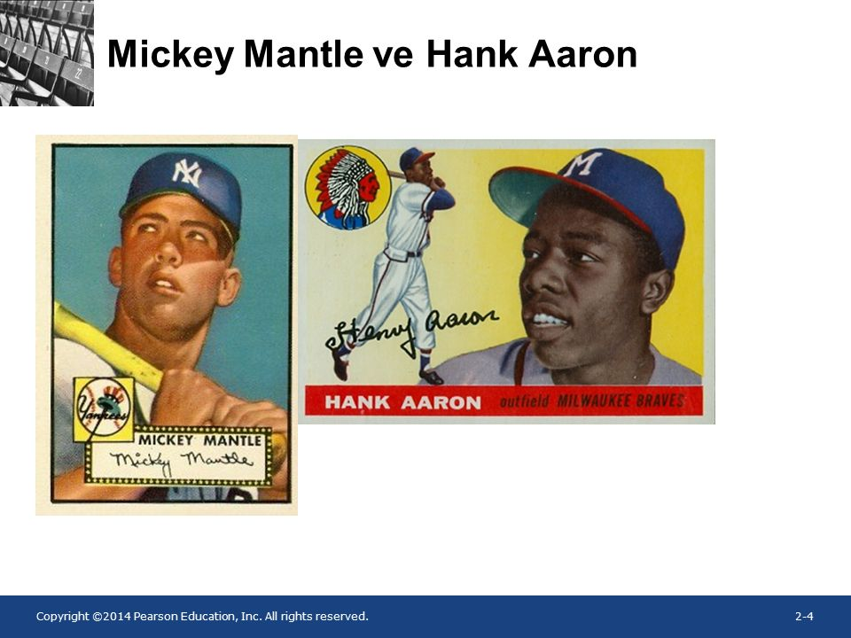 Copyright ©2014 Pearson Education, Inc. All rights reserved.2-4 Mickey Mantle ve Hank Aaron