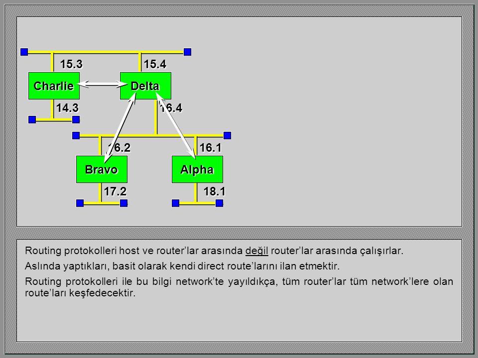 Dinamik Route'lar İlk router network'leri Doğrudan ve Statik route'lar kullanılarak yapılmıştı.