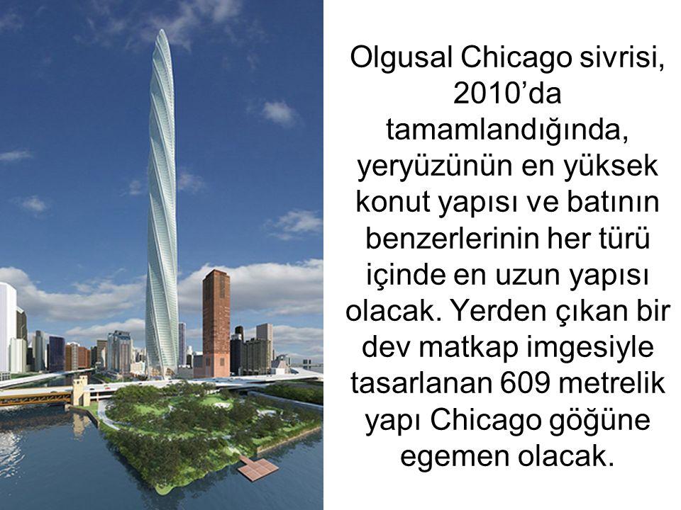 Olgusal Chicago sivrisi, 2010'da tamamlandığında, yeryüzünün en yüksek konut yapısı ve batının benzerlerinin her türü içinde en uzun yapısı olacak.