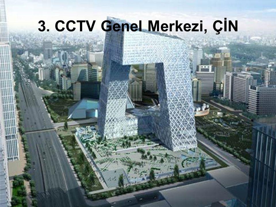 En azından 234m olan CCTV yapısı uzaktan göze çarpmayacak ancak tasarım ve biçimi görenleri yerine çakacak.