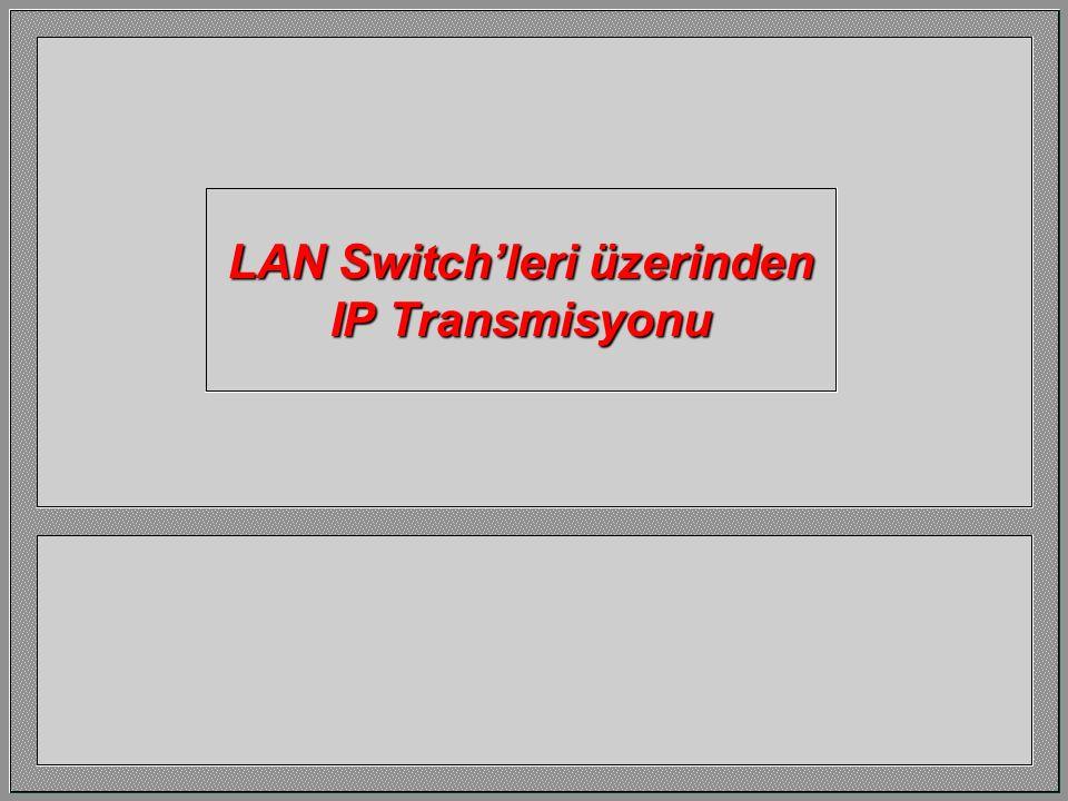 LAN Switch'leri üzerinden IP Transmisyonu