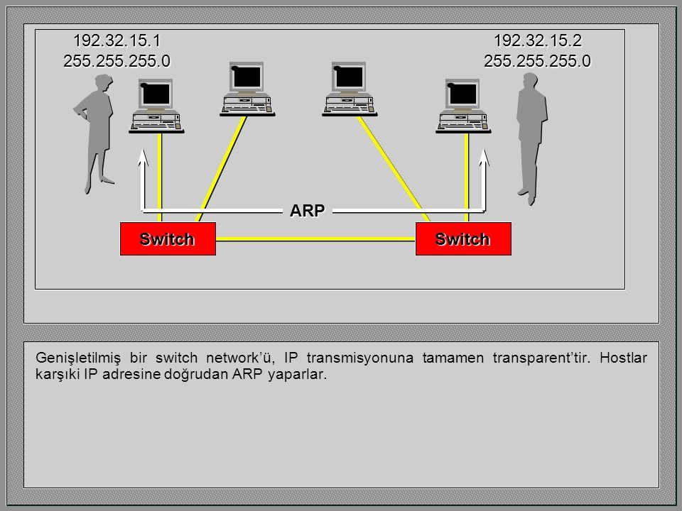 Genişletilmiş bir switch network'ü, IP transmisyonuna tamamen transparent'tir.
