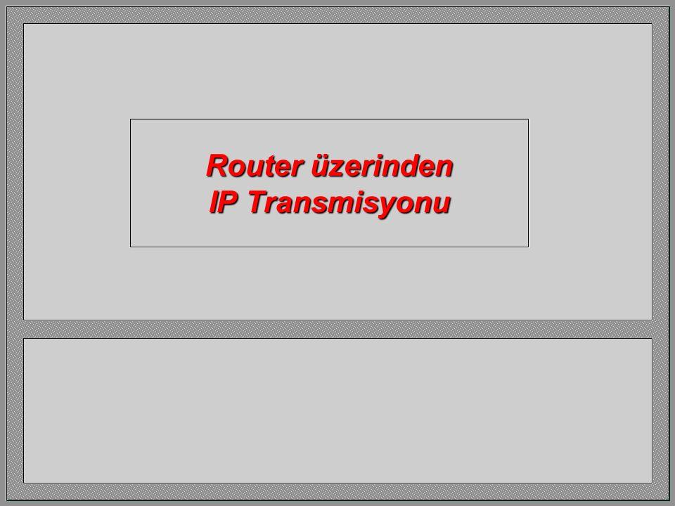 Router üzerinden IP Transmisyonu