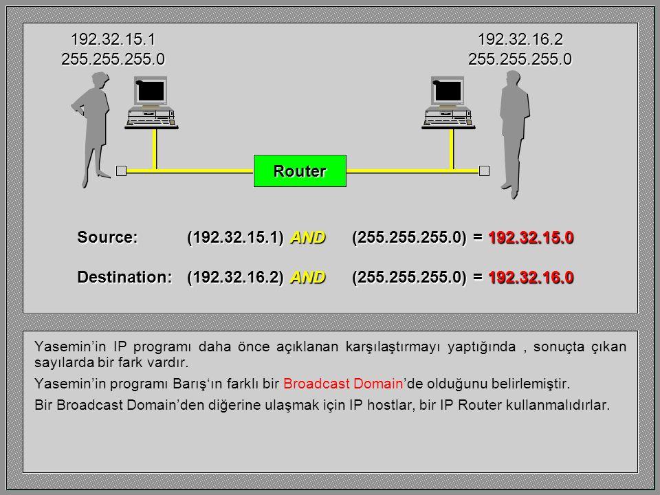 Yasemin'in IP programı daha önce açıklanan karşılaştırmayı yaptığında, sonuçta çıkan sayılarda bir fark vardır. Yasemin'in programı Barış'ın farklı bi
