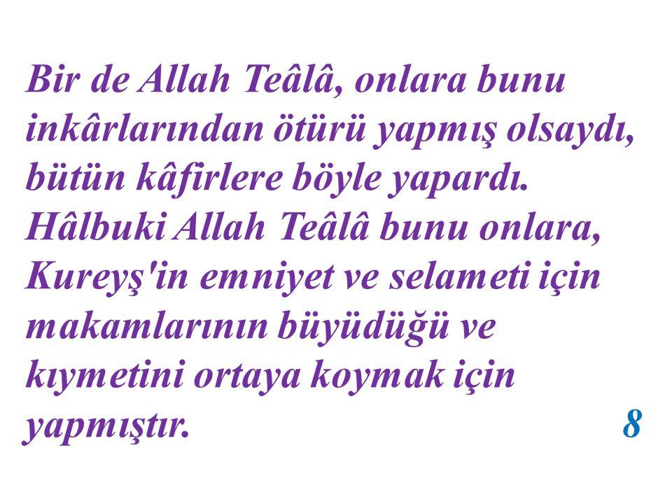 a) Biz, Allah Teâlâ'nın bu belayı, onların başına inkârlarından ötürü getirdiğini kabul etmiyoruz. Çünkü inkârlarının cezası, kıyamet gününe ertelenmi